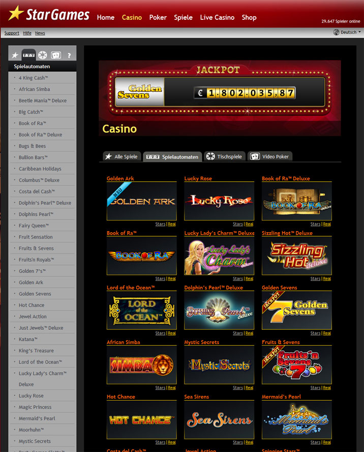 deposit online casino star games book of ra